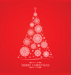white snowflakes in the form of a christmas tree vector image