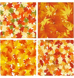 Autumn Seamless Pattern Set vector image vector image