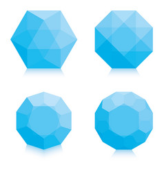 light blue polygons vector image