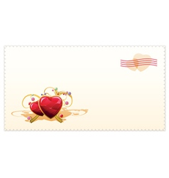 old-fashioned valentine card vector image vector image
