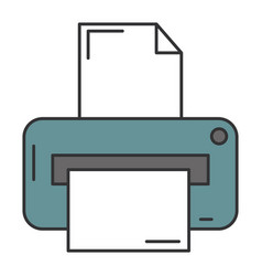 printer hardware isolated icon vector image