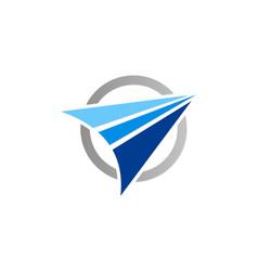 arrow abstract navigation technology logo vector image