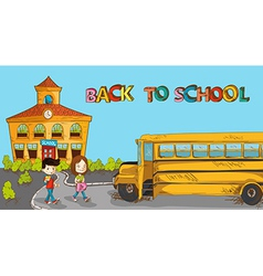 Colorful back to school education cartoon vector image vector image