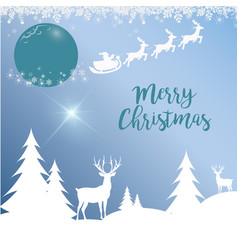 merry christmas a proud deer in the forest in vector image vector image