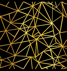black and gold foil geometric mosaic vector image vector image