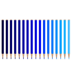 blue pencils vector image vector image