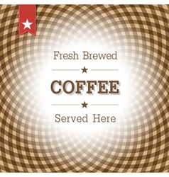coffee card design template vector image vector image