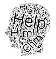 Create CHM HTML Help Files Easily text background vector image