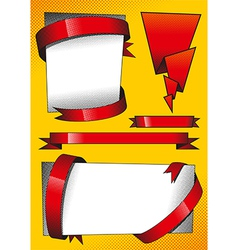 Design Elements with Red Ribbons vector image vector image