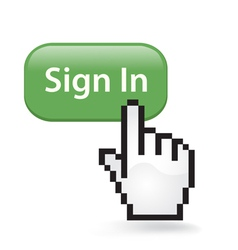 Sign In Click vector image