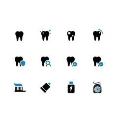 Tooth teeth duotone icons on white background vector image