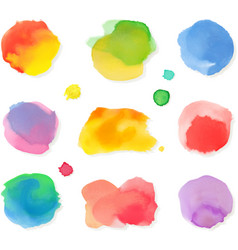 Watercolor painting icon set vector