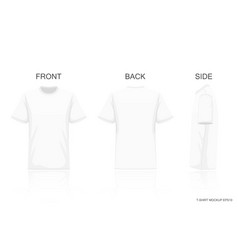 white t-shirt isolated on gray background front vector image
