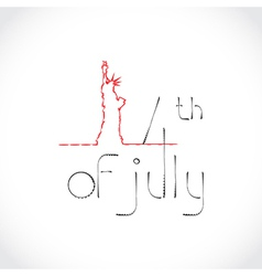4th July Theme vector image