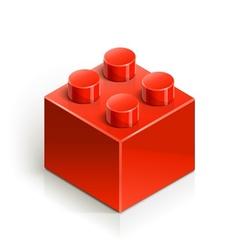 brick meccano toy vector image