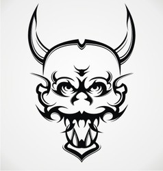 Demon Face Tattoo Design vector image