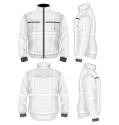 Mens reflective safety jacket vector image vector image