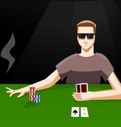 Playing poker vector image