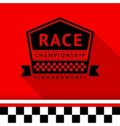 Racing stamp-08 vector image vector image