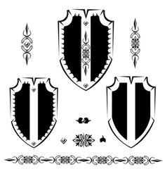 vintage shield vector image