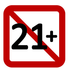 21 age restriction sign vector image