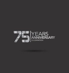 75 years anniversary logotype with silver color vector