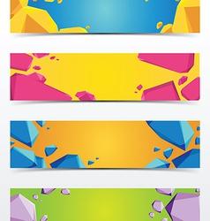 abstract polygon banner vector image