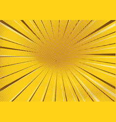 abstract yellow dotted and striped background vector image