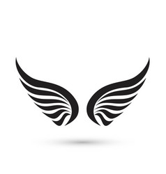 angel wings icon vector image