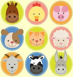 Animals face vector