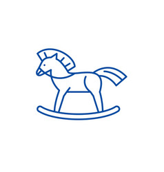 baby horse line icon concept baby horse flat vector image