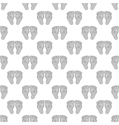 Babys feet seamless pattern vector image
