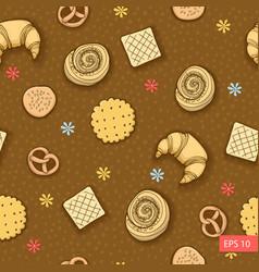 bakery produkts seamless pattern vector image