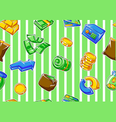 Banking seamless pattern with money icons vector