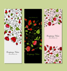Banners design floral background vector