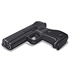 Black metal handgun vector
