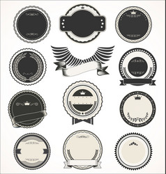 blank retro vintage badges and labels collection vector image