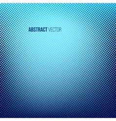 Blue abstract halftone background vector image