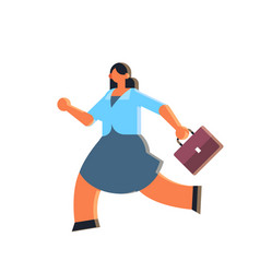 businesswoman holding suitcase overworked business vector image