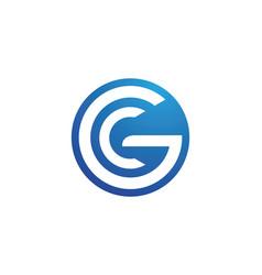 c letter logo template icon design vector image