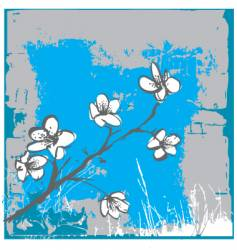 Cherry blossom wall vector