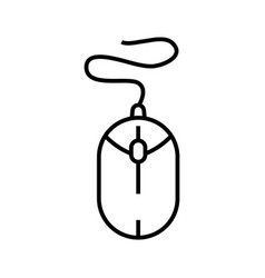 Computer mouse line icon concept sign outline vector