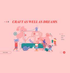 creative atelier fashion design website landing vector image