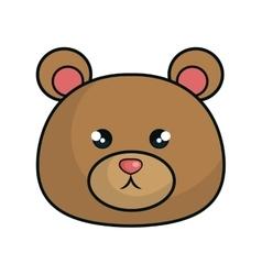 cute bear stuffed icon vector image