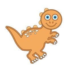 cute dinosaur cartoon character vector image