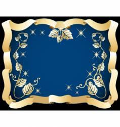 decorative ribbon frames vector image