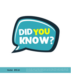 Did you know letter template design eps 10 vector