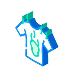 Dirty clothes smell isometric icon vector