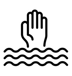 Drowned man icon outline style vector