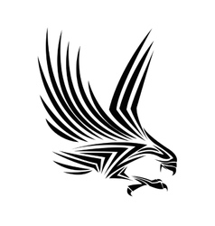 Eagle tattoo animal design vector